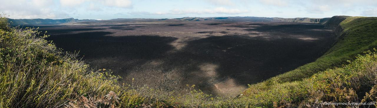кратер вулкана Сьерра Негра