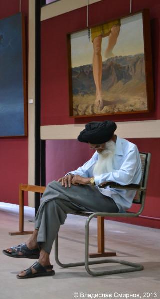 В картинной галереи. г. Чандигарх