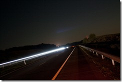 Ночная дорога в Литве