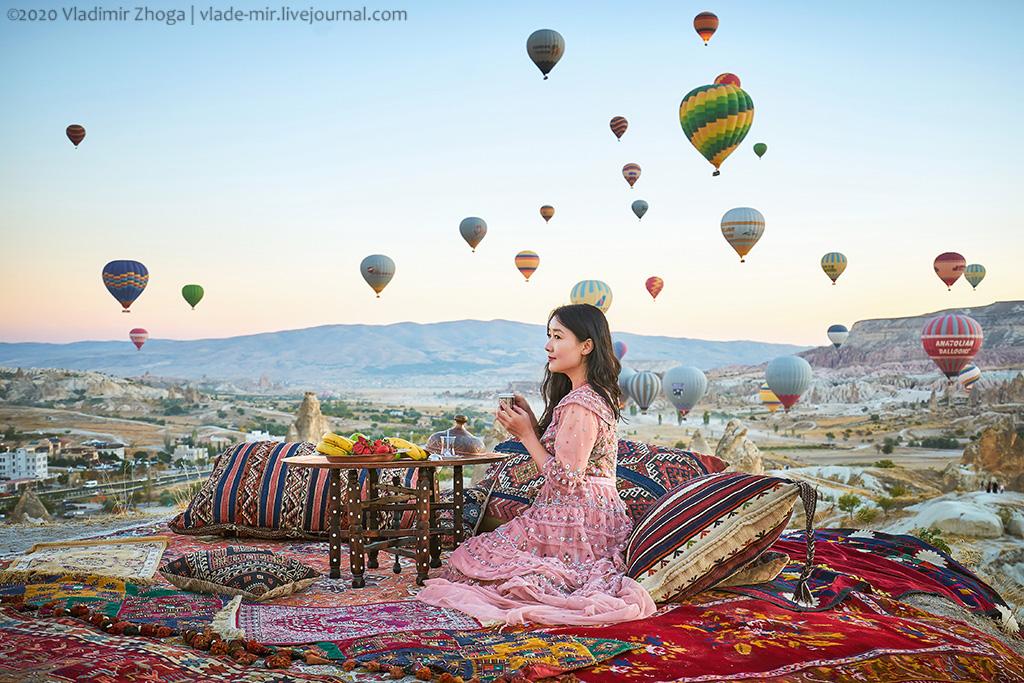 Как сделать крутую фоточку с шарами в Каппадокии
