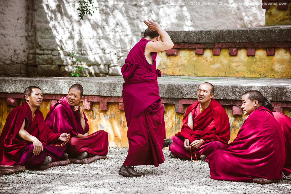 О чем спорят тибетские монахи?
