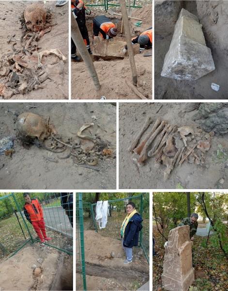 Чиновники уничтожают старинные захоронения в уникальном сквере на месте Солдатского кладбища Арбатец