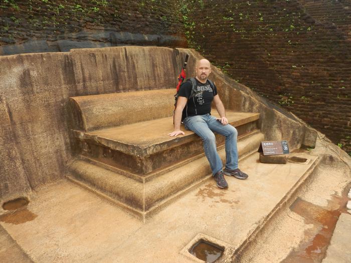 царский трон на вершине Сигирии