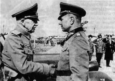 Встреча группенфюрера СС фон Панвица с генералом Красновым (сентябрь 1943 года)