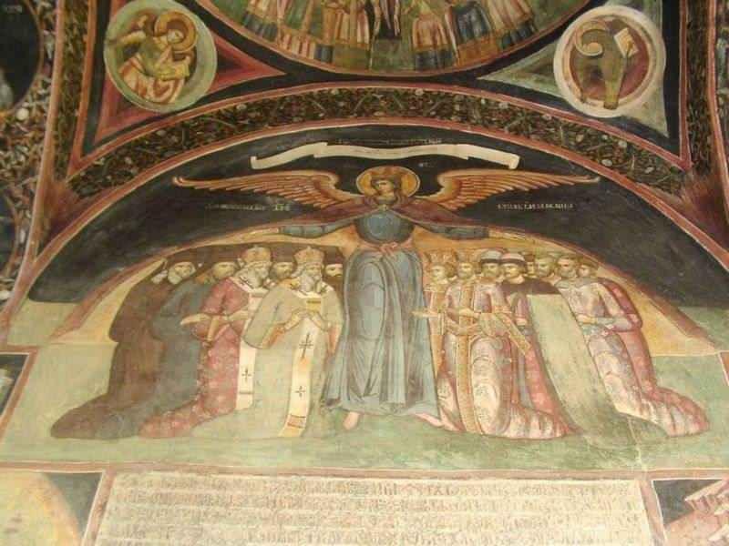 Фреска, монастырь,Румыния
