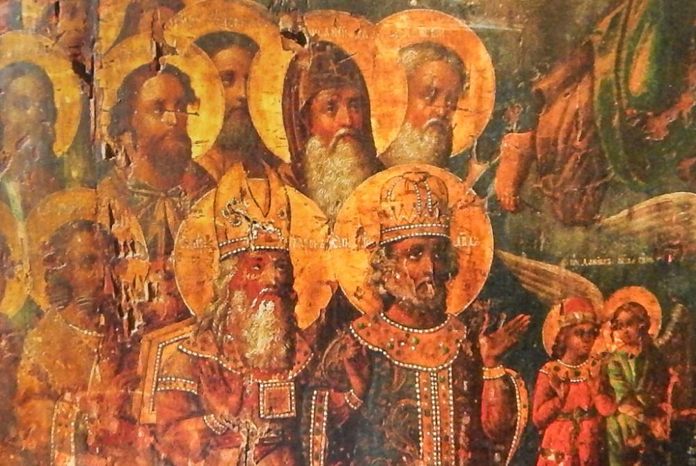 Фрагмент иконы из церкви Николы Гостиного