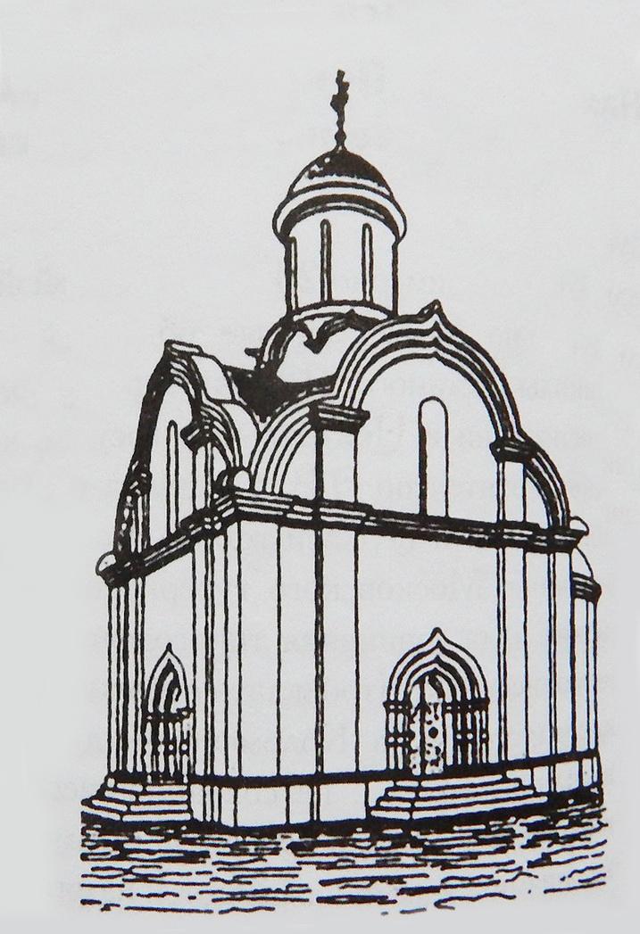 Реконструкция храма Николы Гостиного 1501 г. Е.В. Михайловского