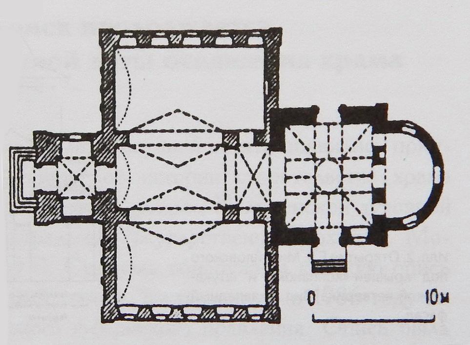 Современный план храма Николы Гостинного