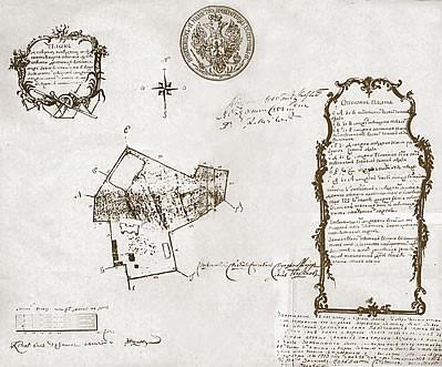 007 - Межевой план Московского подворья - 1773 год
