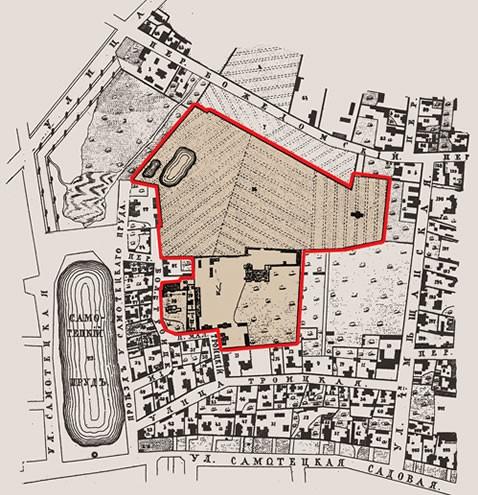 017 - План земельного владения Троицко-Сухаревского подворья Свято-Троицкой Сергиевой Лавры