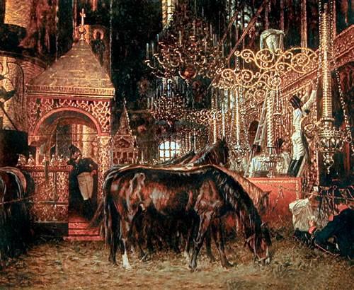 038 - Успенский собор во время нашествия французов