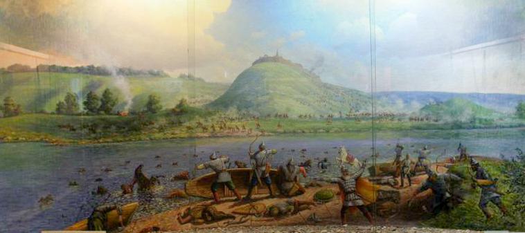 Панорама битвы - из музея