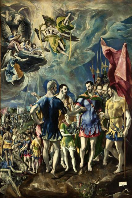 Легенда о Маврикии. Эль Греко. 1580-1582.