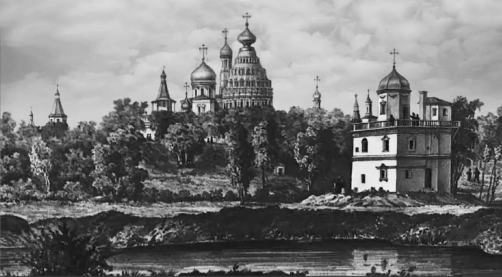 Вид Новоиерусалимского монастыря со стороны Никоновского скита