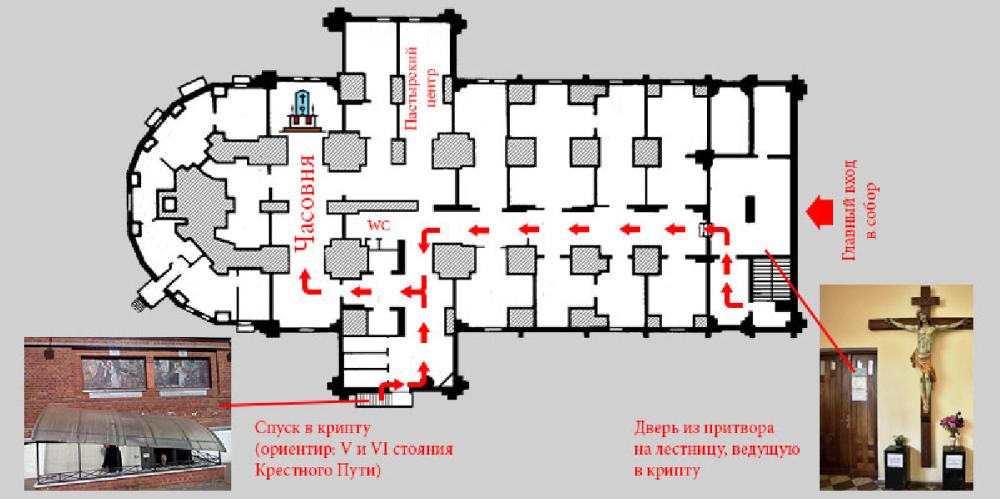 Собор - план