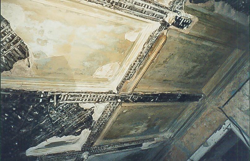 Колосово - 706 -  Потолок первого этажа. Фото 2002, октябрь.