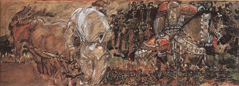 Эскиз к картине М.Врубеля