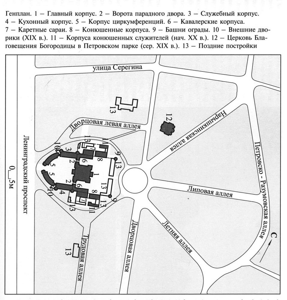 Генплан Петровского проездного дворца