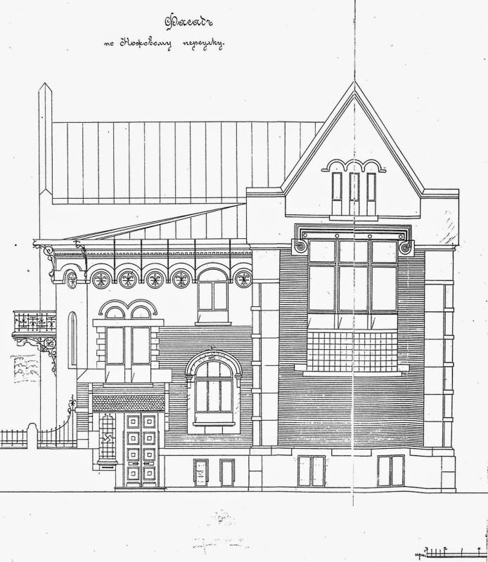С. Соловьёв. Проект собственного дома, 1901. Фасады. - 01