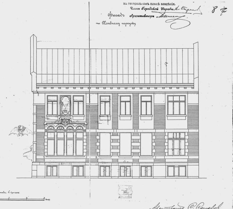С. Соловьёв. Проект собственного дома, 1901. Фасады. - 02