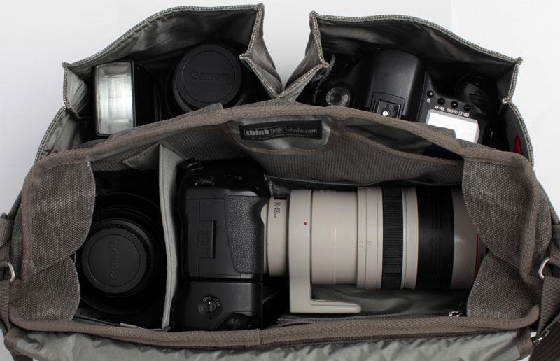 Размещение в фото сумке 70-200Д горизонтально