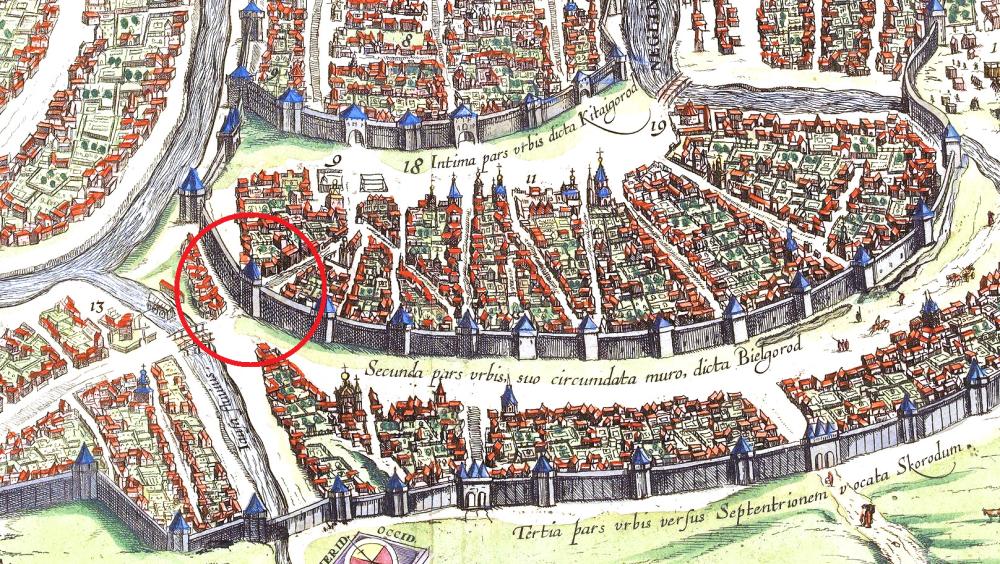 Сигизмундов план Москвы 1610 года - фрагмент