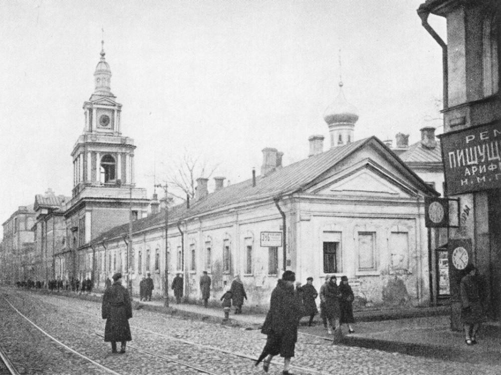 Большая Никитская в сторону Моховой - 1920 год