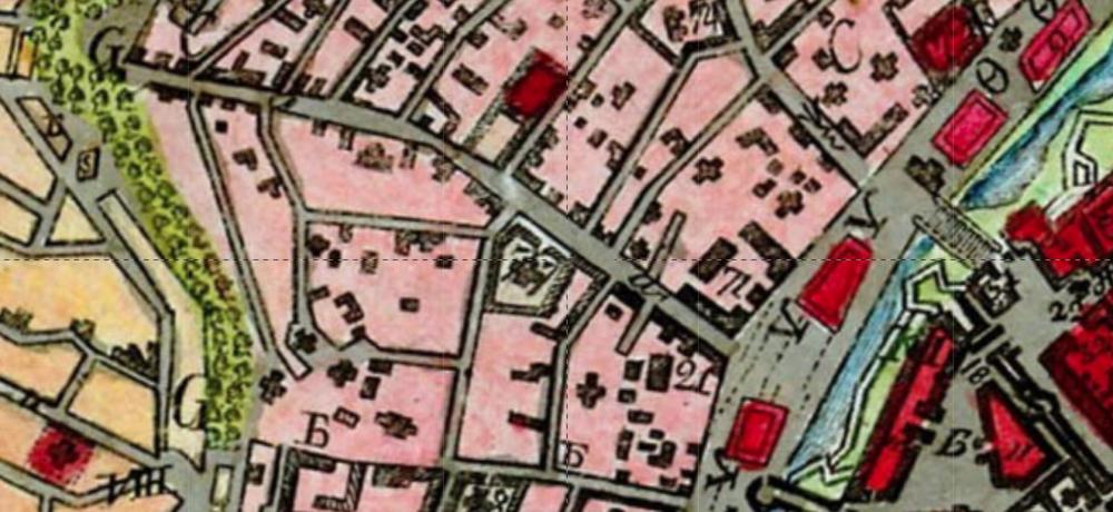 Карта Москвы. 1796 год.