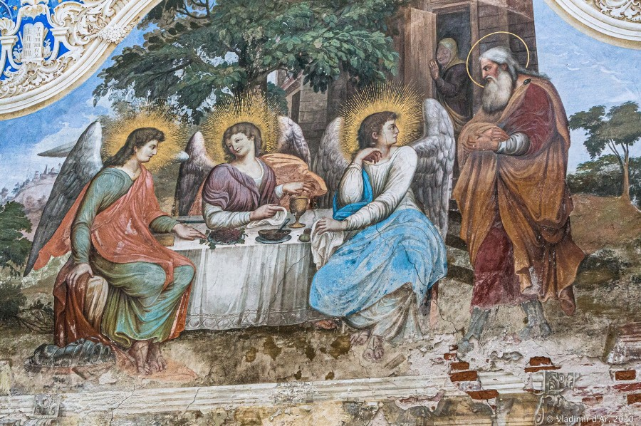 Фрески Федоровской церкви Богоявленского монастыря в Угличе - Троица