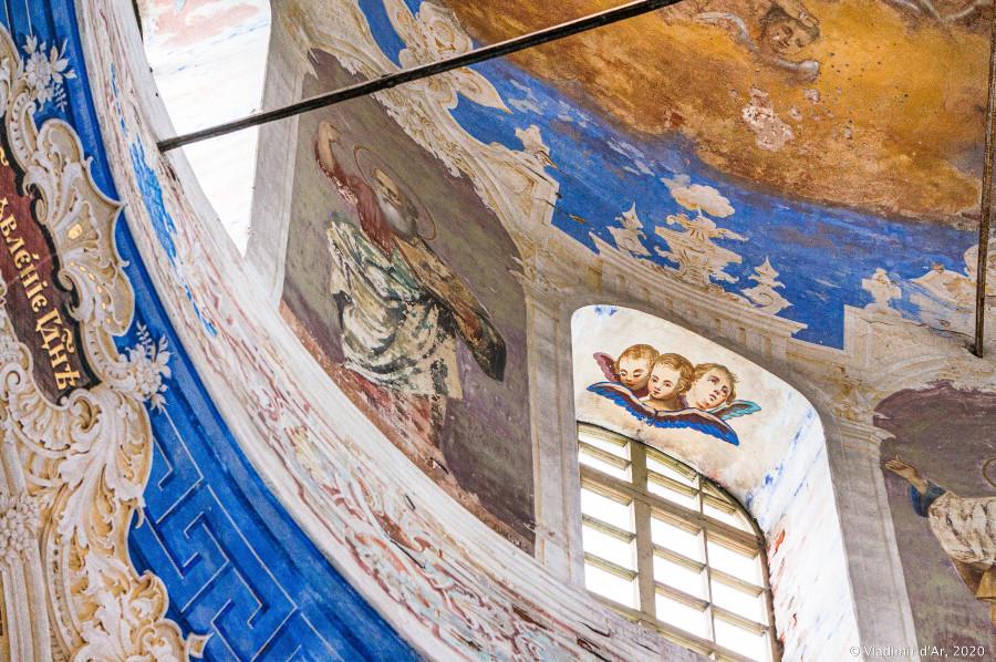Федоровская церковь Богоявленского монастыря - фрески