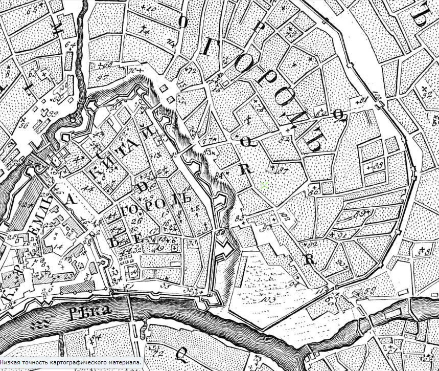 Мичуринский план Москвы за 1739 год