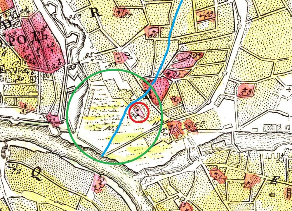 Мичуринский план Москвы за 1739 год - Васильевский луг