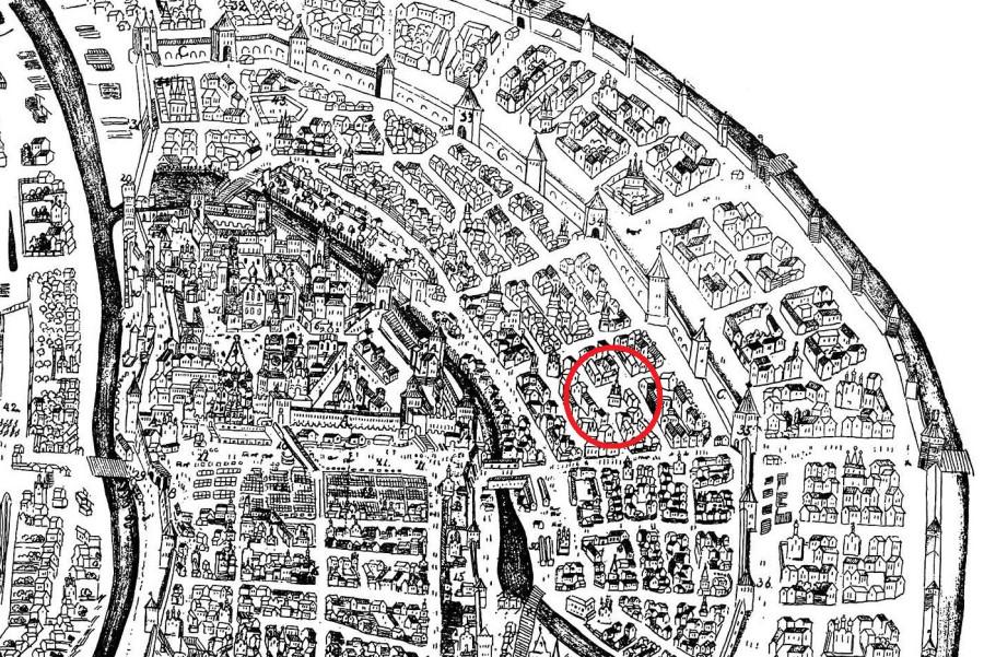 План Москвы Мейерберга 1661 года