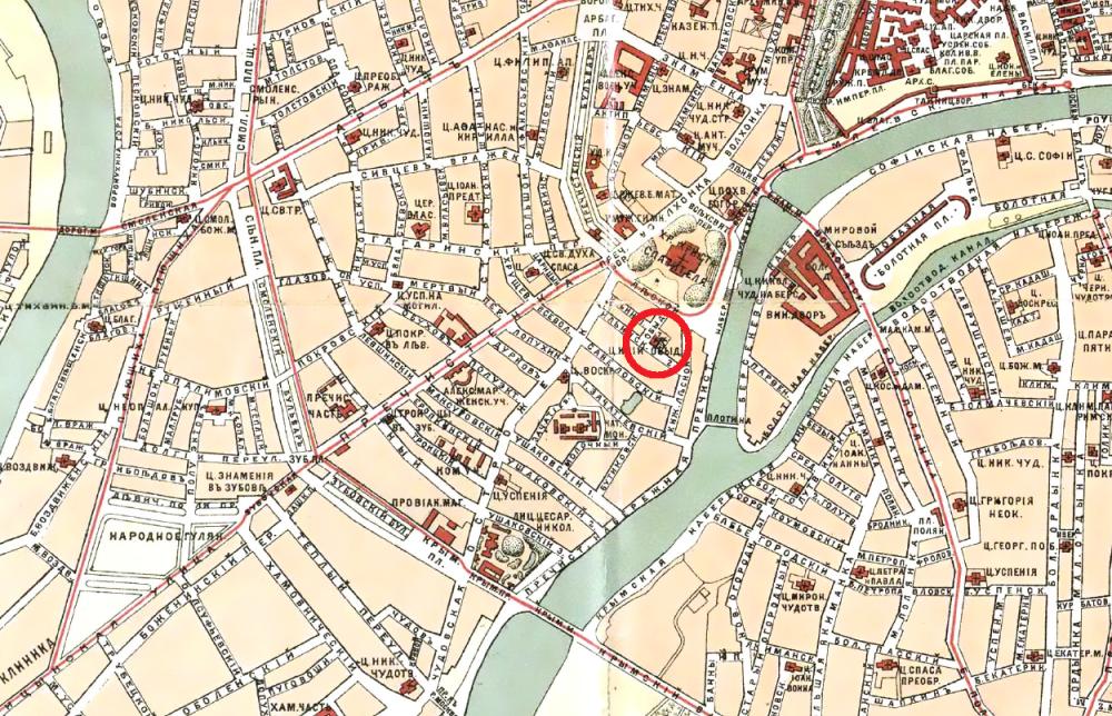 Карта Москвы Ильина - 1901 год