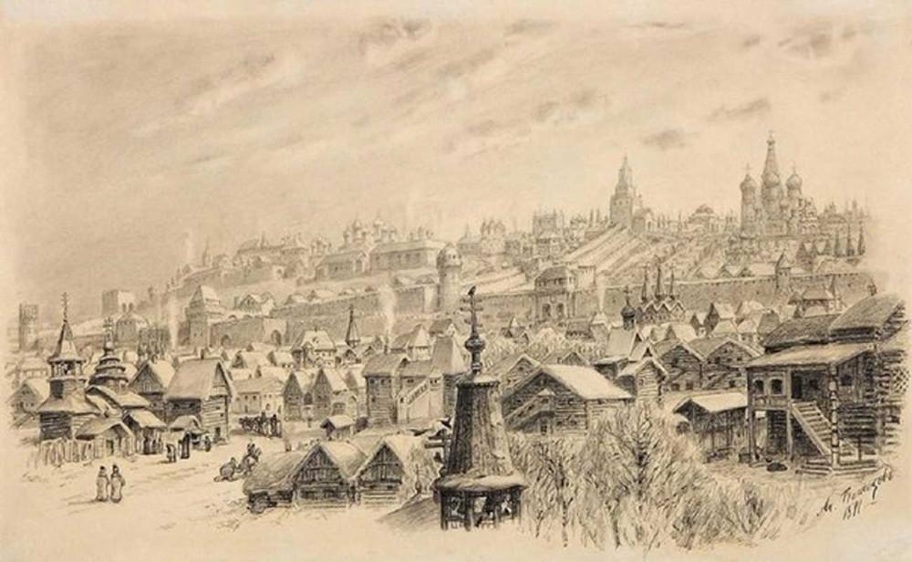 Москва XVI столетия, написана Васнецовым в 1891 году