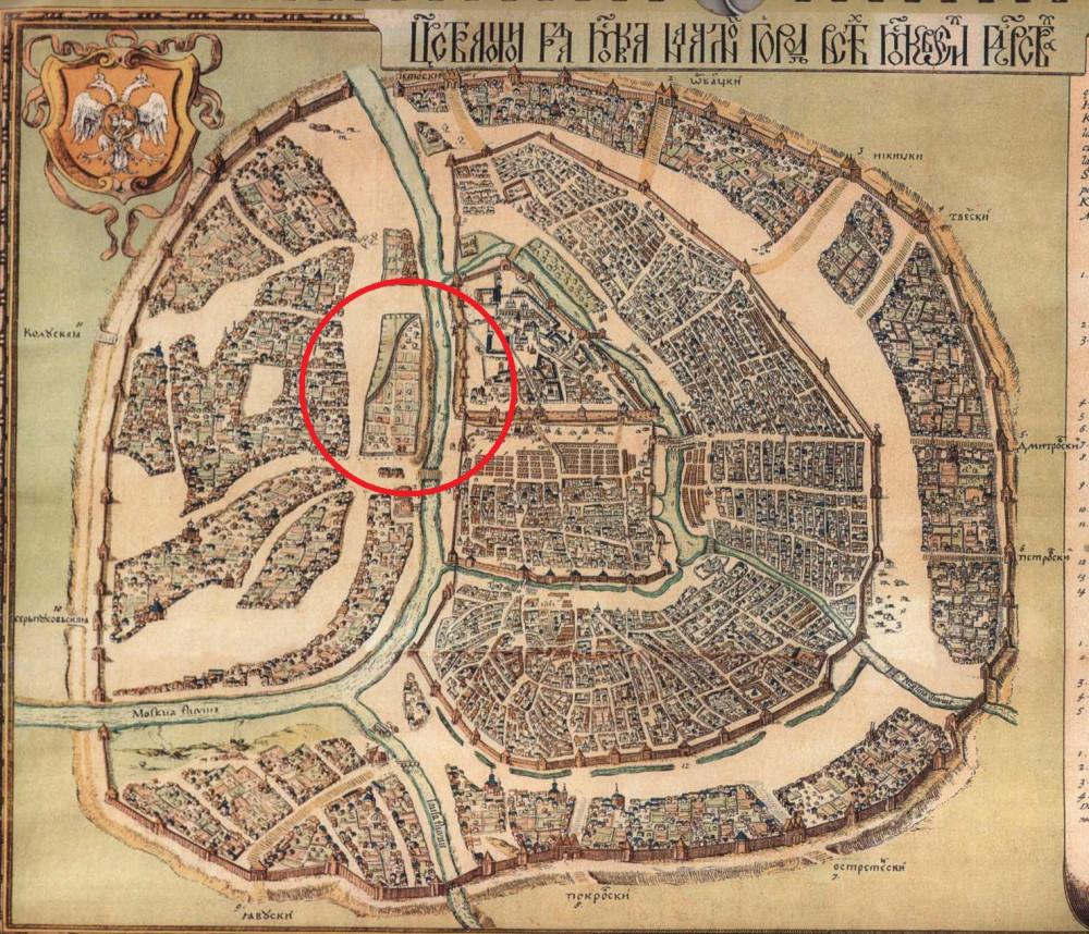 Петров план Москвы. 1597 год.