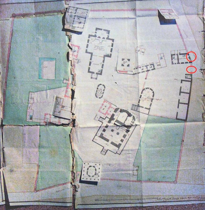План монастыря 1786 года