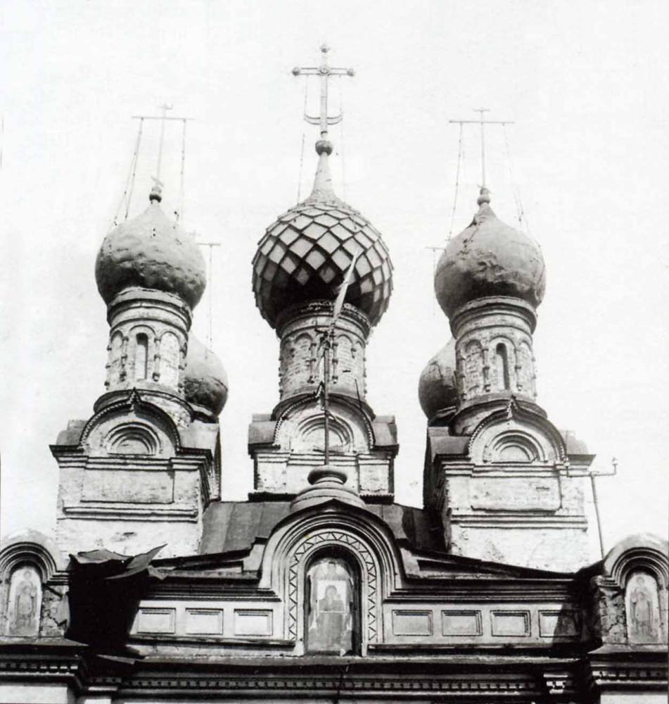 Георгиевский переулок. Купола Казанской церкви - 1924 год