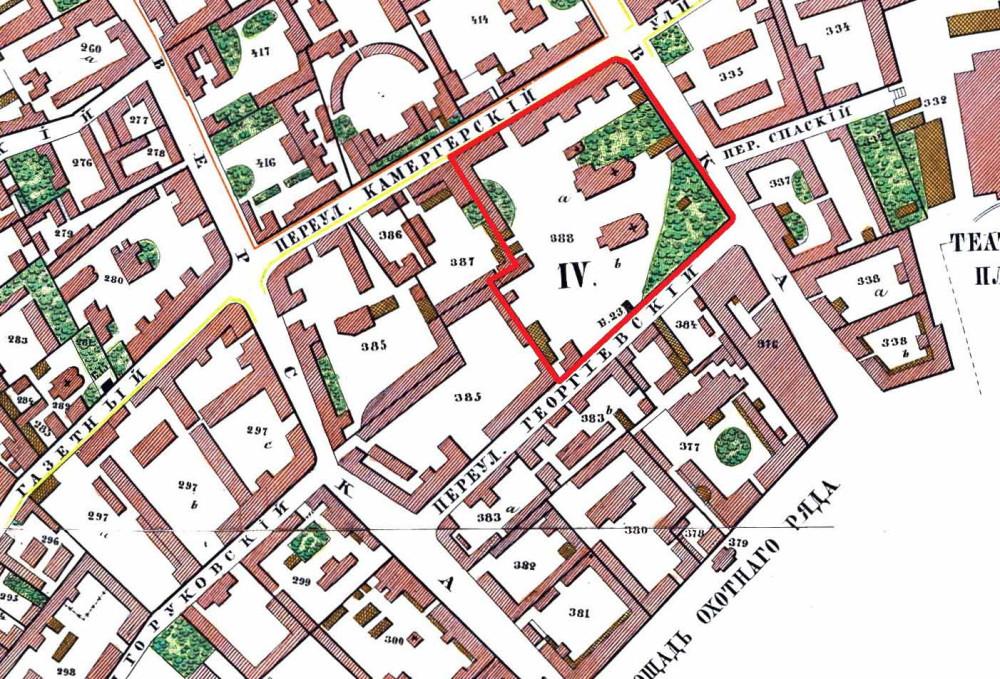 Карта Москвы 1853 года - Хотевский план