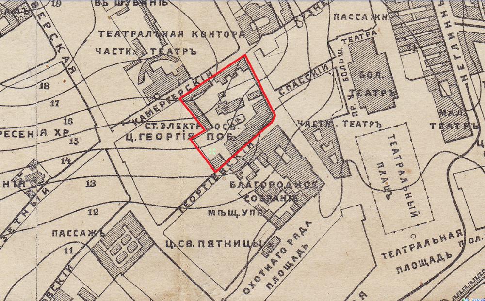 Карта Москвы 1888 - фрагмент