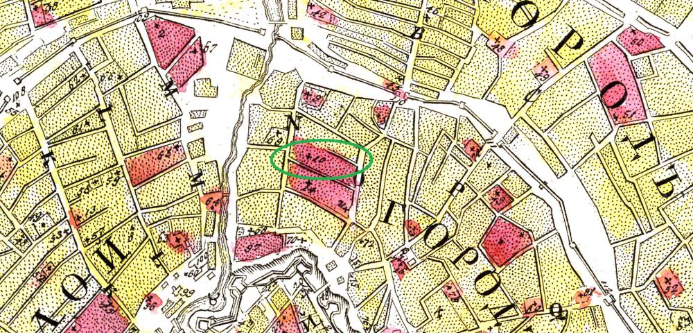 Мичуринский план Москвы - 1739 год - фрагмент