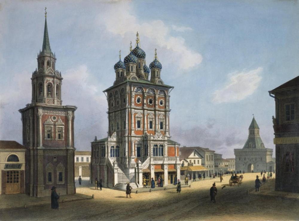 Ильинка. Церковь Большой Крест и Ильинские ворота.