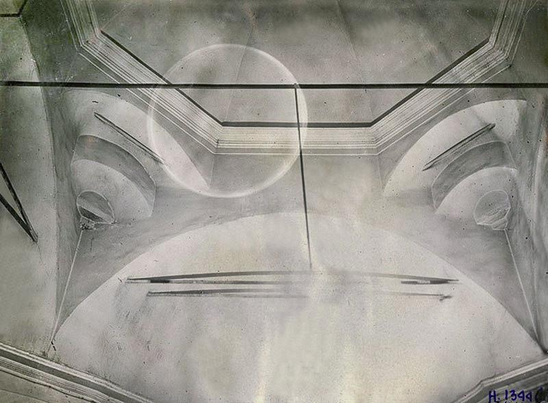 Своды притвора верхней церкви Воздвижения - 1934