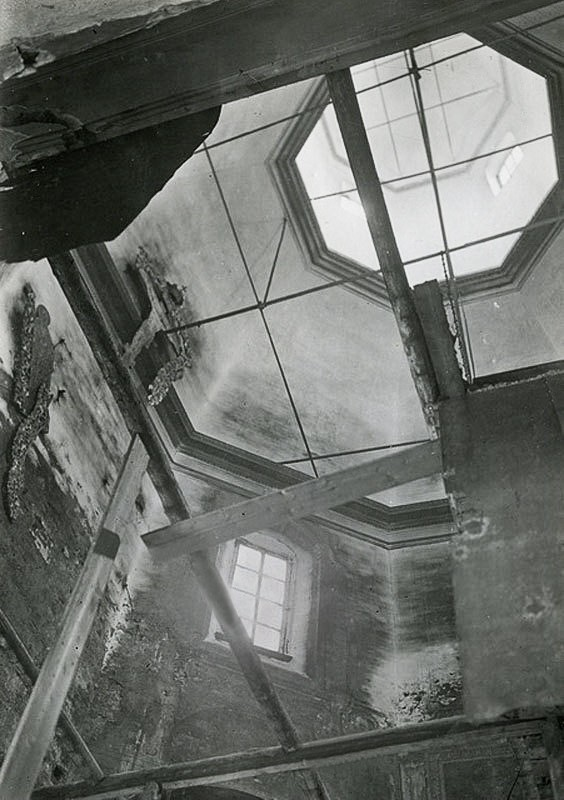 Воздвиженка. Интерьер верхней летней Воздвиженской церкви - 1934