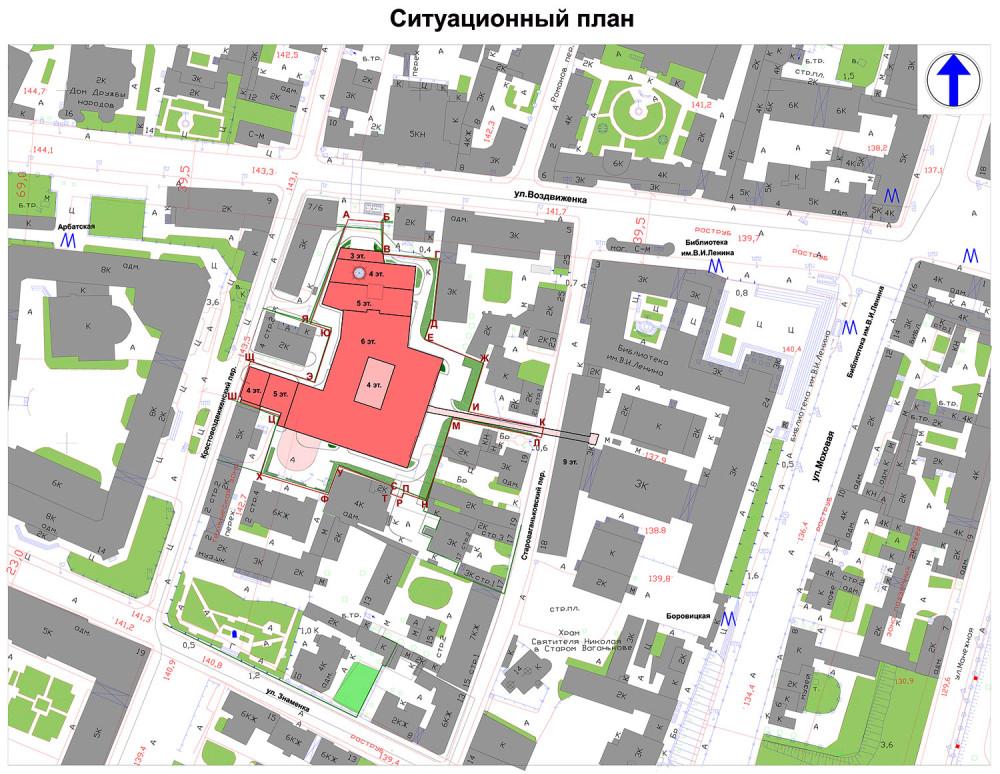 Ситуационный план нового строительства