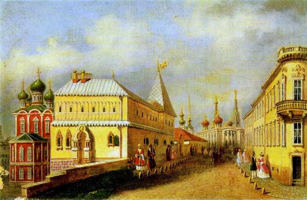 Москва до пожара 1812 года. Неизв. художник.
