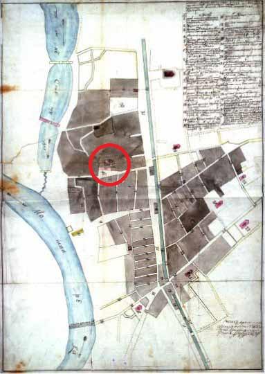 План местности в районе Новинского монастыря - 1737 год