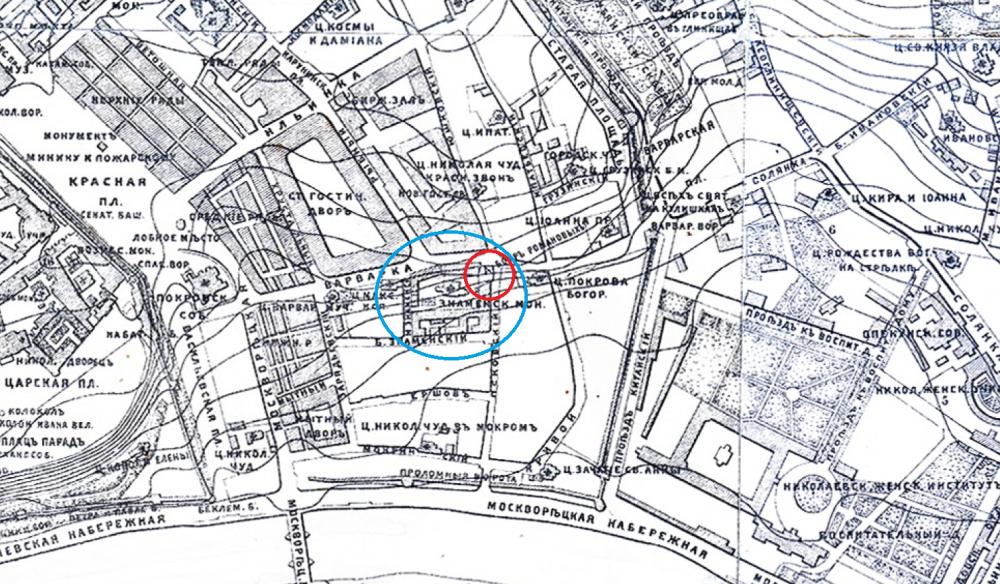 Нивелирный план Москвы - 1888 год.png