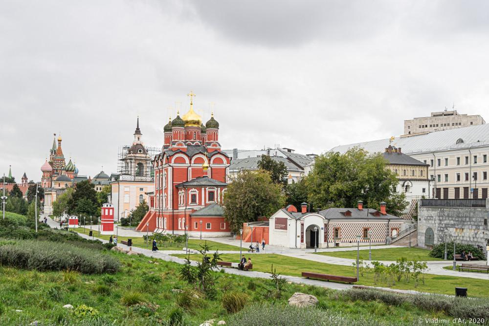 Палаты Романовых - вид из парка Зарядье