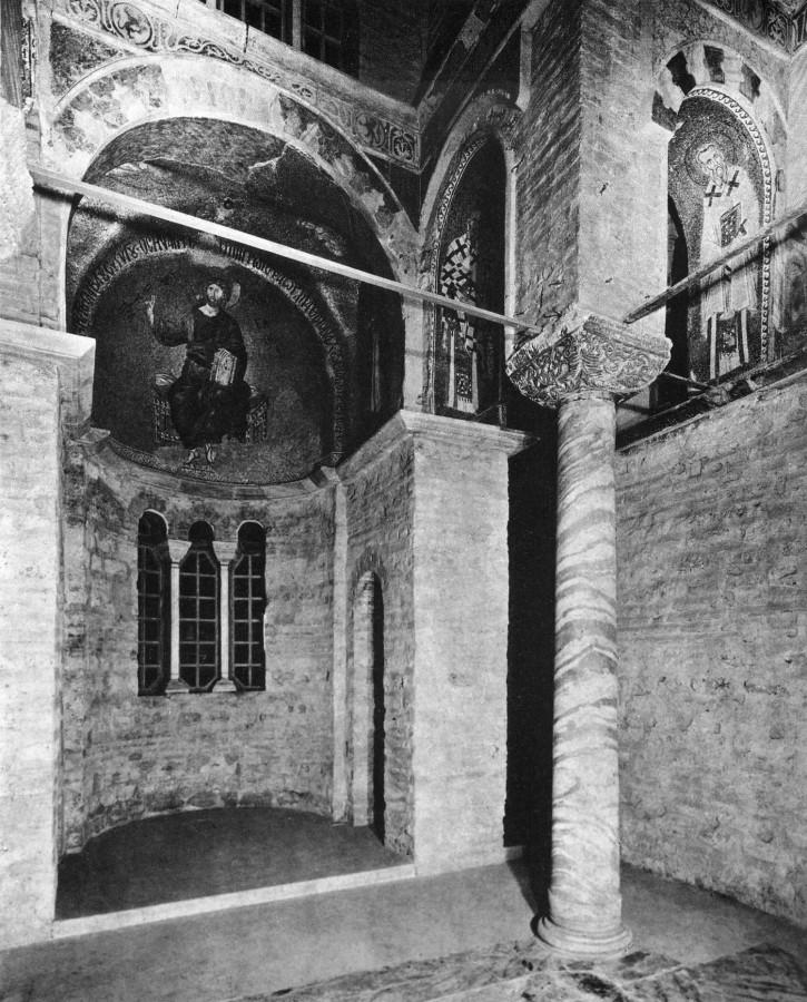 Общий вид на мозаики апсиды Паммакаристы. Начало XIV в.